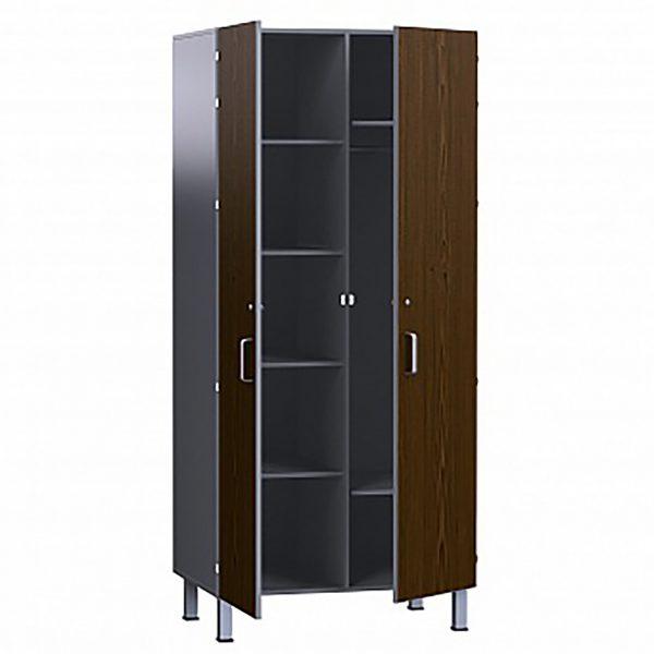 Шкаф медицинский ДСП в пластике, комбинированный, для белья и одежды, БТ-Шок БТ-Шок-80