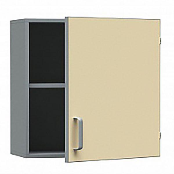 Шкаф медицинский из ДСП в пластике, навесной, одностворчатый с распашными дверками, БТ-ШН-40