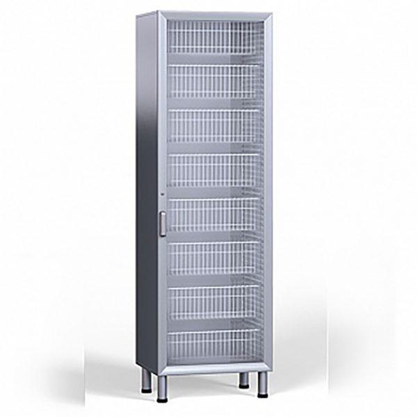Шкаф медицинский для лекарств и расходных материалов с лотками и корзинами стандарта ISO, со стеклом БТ-ШЛС-65