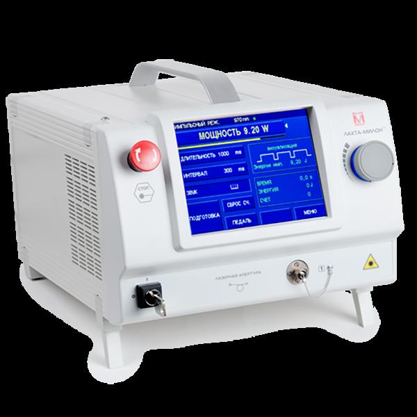 Лазерный диодный аппарат ЛАХТА-МИЛОН для лечения варикоза методом эндовазальной лазерной коагуляции сосудов (ЭВЛК)