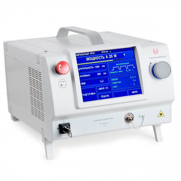 Двухволновой лазерный аппарат ЛАХТА-МИЛОН для ЭВЛК и чрескожной коагуляции сосудов