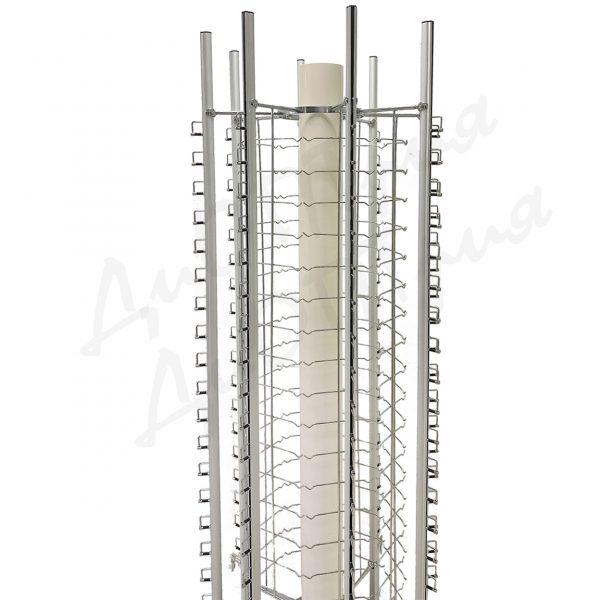 Стойка для очков напольная с замками на 144 места с плавным открытием